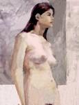 54.人物裸婦/モノトーンの色面で形態を捉える(10h)